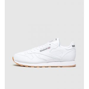 Reebok Classic Leather, Sneakers Basses Homme - Blanc (White/Gum) - 45.5 EU (Taille Fabricant : 11 UK)