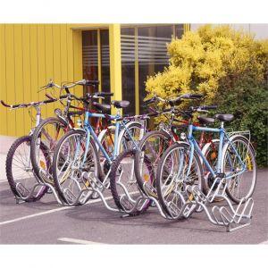 Mottez Râtelier range 9 vélos au sol sur 2 niveaux B133V9