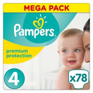 Pampers Premium Protection taille 4 (8-16 kg) - 78 couches