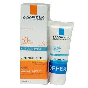 La Roche-Posay Anthelios XL - Crème Confort SPF 50+ + Posthelios Gel