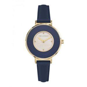 Ted Lapidus Montre A0761PTPB - Acier Bracelet Cuir Bleu Femme