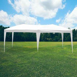 SkyLantern Tonnelle de Jardin Pliante 3x6 m Structure Télescopique Toile 160g/m² - Barnum Pliant