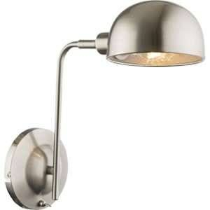 Globo Lighting Applique nickel mat L28 x l13 x h30 cm - Gris - Applique nickel mat - Gris métallisé - Interrupteur - 130x300 - OH:280 - Ampoule non incluse 1xE14 40W 230V