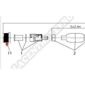 Procopi 1004011 - Adaptateur de prise de paroi pour Jet Vac