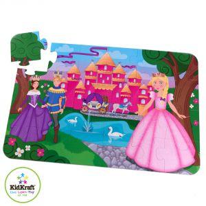 KidKraft Château de Princesse - Puzzle de sol24 pièces