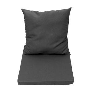 Naterial Coussin d'assise et dossier de chaise ou de fauteuil gris zingué