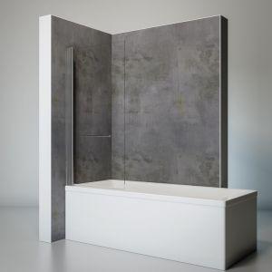 Schulte-ufer Pare baignoire relevable paroi de baignoire anticalcaire écran de baignoire pivotant avec porte-serviettes 1 volet rabattable verre transparent 75x145 cm Schulte