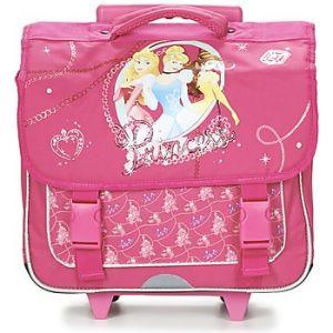 Cartable à roulettes CP/CE1 Disney Princesses 38 cm Rose