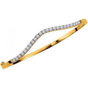 Altesse bijoux 70250310108 - Bracelet Rigide Cristaux Doré Femme