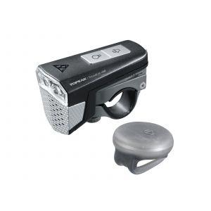 Topeak Éclairage avant et avertisseur SoundLite 3 LEDs USB + Télécomma