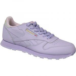 Reebok Chaussures enfant Sport Classic Leather Metallic - Couleur 36 1/2 - Taille Violet