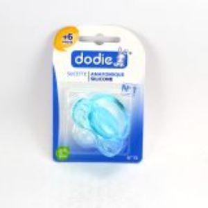 Dodie 5411015 - Sucette anatomique Discrète avec anneau en silicone N°15 (6 mois +)