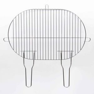 Blooma Grille simple ovale 50,5 x 33 cm pour barbecue