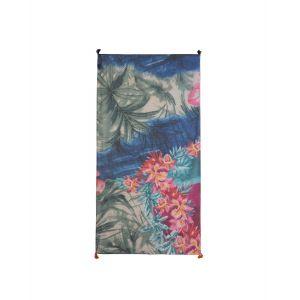 Desigual Foulard Midnight style hawaïen Bleus