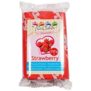 FunCakes Pâte à sucre Rouge goût Fraise 250g