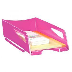 CEP Office Solutions Corbeille à courrier Maxi Gloss - 24 x 32 cm - L38,6 x H11,5 x P27 cm - rose pepsy