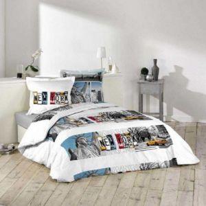 La Maison d'Amélie Ny Winter - Parure de couette 100% coton (220 x 240 cm)