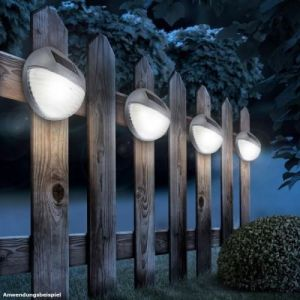 Globo Lighting Applique solaire - Plastique gris - Plastique translucide - IP44