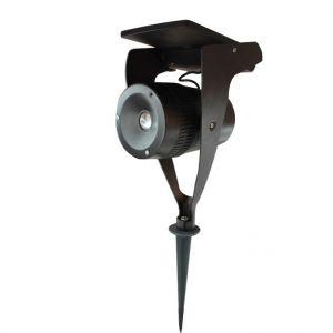 Watt & Home Spot solaire Power spot en acier noir à LED 150 lumens H 33 cm
