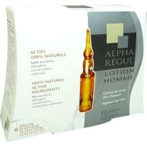 Arlor Natural Scientific Alpharegul - Lotion capillaire pour homme (12 unidoses x 5ml)