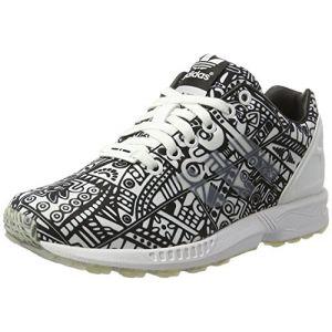 Adidas ZX Flux, Chaussures Mixte Adulte - Blanc - Blanc/Noir, 36 EU