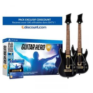 Pack Guitar Hero Live + 2 guitares sur PS4