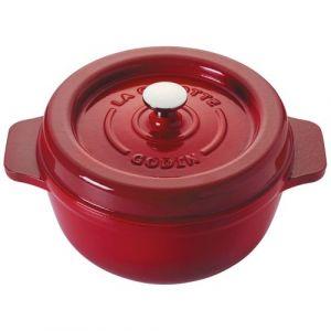 Godin Cocotte ronde en émail - D: 23cm - rubis