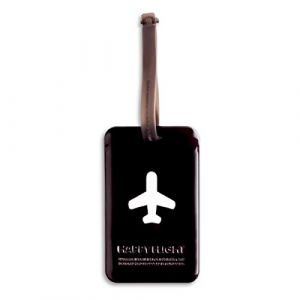 Alife Design Travel Style Luggage Tag / Identifier Dark Brown - Stylish Highly Visible Spot Your Suitcase Easily