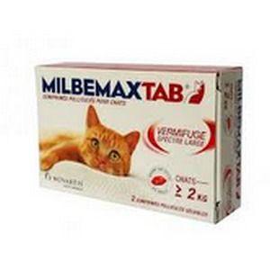 Novartis Milbemax Tab - Comprimés vermifuge pour chat