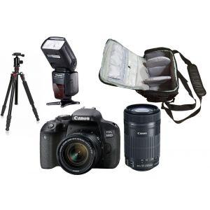 Canon EOS 800D (avec 2 objectifs 18-55mm et 55-250mm)