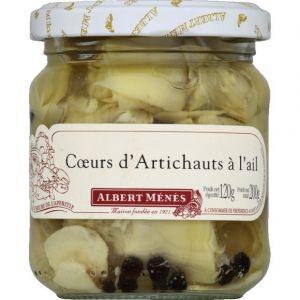 Albert ménès Coeurs d'artichauts à l'ail - Le pot de 120 g net égoutté