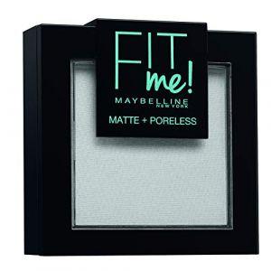 Maybelline Poudre Compacte Fit me Matte Poreless Gemey 90 Teint Universelle