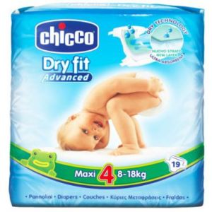 Chicco Dry Fit taille 4 Maxi 8-18 kg - 19 couches