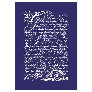 Rayher Pochoir MyStyle pour textile Vintage poésie 21 x 14,8 cm