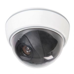 Silverline Caméra de surveillance factice dôme avec LED - 3 x AA