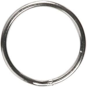 Creotime Anneaux porte-clés en métal argenté - 15 mm - 10 pcs