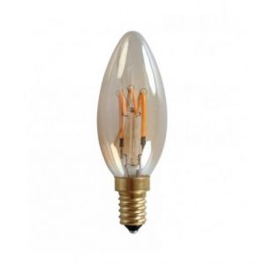 Ampoule LED rétro Edison Flamme (H.10,5cm) filament twist 3,4W (E14)