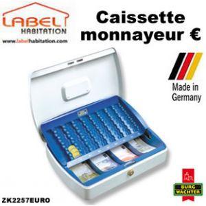 Burg-Wächter Caissette à monnayeur Office ZK2257EURO