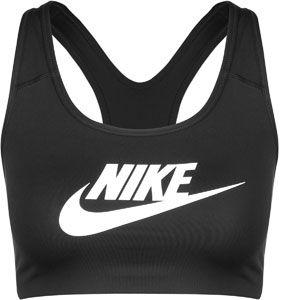 Nike Classic Swoosh Futura Soutien-Gorge de Sport Femme, Noir/Blanc, FR : XS (Taille Fabricant : XS)