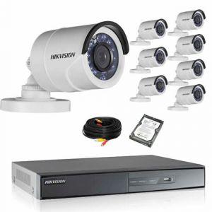 Securitegooddeal Kit de vidéosurveillance HIKVISION 8 TUBES 1080P Turbo HD avec disque dur