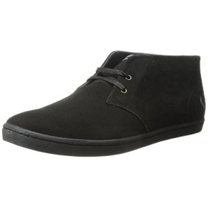 Fred Perry Byron Mid Suede Black B7400102, Baskets Mode Homme - EU 41