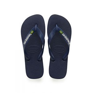 Havaianas Brasil Logo, Tongs Mixte Adulte, Bleu (Navy Blue 0555), 41/42 EU (39/40 Brazilian)