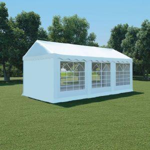 VidaXL Chapiteau de jardin PVC 3 x 6 m Blanc
