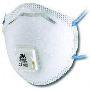 3M Deutschland 70071534070 8322 Lot de 10 masques respiratoires FFP2 NR 2 D