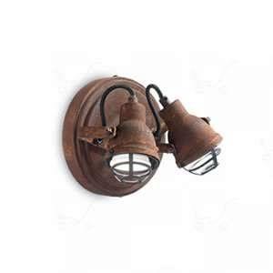 Ideal lux Applique industrielle Bob Rouille 156408