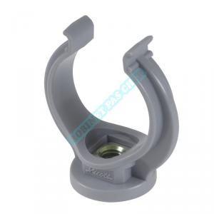 Nicoll Raccord PVC gris coudé 45° - Ø 40 mm - Simple emboîture