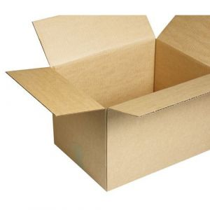Caisse américaine kraft brun simple cannelure L 20 x l 20 x H 11 cm - Lot de 25