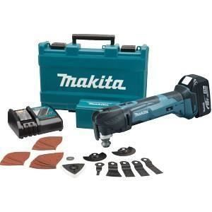 Makita DTM51RMJX2 - Outil multifonctions 2x18V 4Ah Li-ion avec 38 accessoires et un coffret MakPac