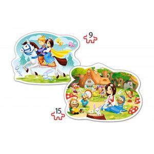 Castorland 2 puzzles forme : Blanche Neige et les Sept Nains
