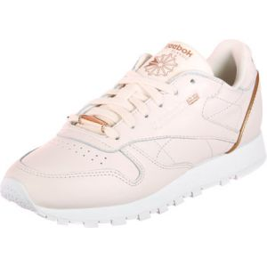 Reebok Classic Leather Hardware, Sneakers Basses Femme, Rose (Pale Pinkwhiterose Gold), 36 EU